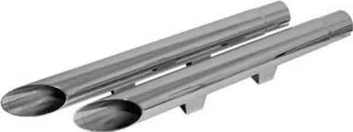 Emgo Slip-On Muffler - Drag - Chrome , Color: Chrome 80-75110