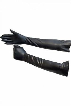 Herren Rubber Handschuhe lang Black von Mr. B. Größe Large Mister B