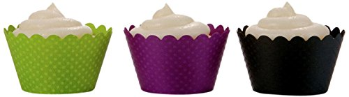 Dress My Cupcake Halloween Chic Trio Cupcake Wrappers, Set of 36