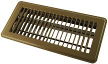 Hart & Cooley 421 4x12 GS HVAC Diffuser, 4'' H x 12'' W, 421 Steel Diffuser for Floor - Golden Sand (010719)