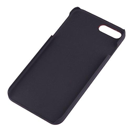 GR iPhone 7 Plus Abdeckung Fall -Artistic Carving Muster Rosewood + PC Bordure Schutzmaßnahmen zurück Fall Shell ( SKU : Ip7p1451u )