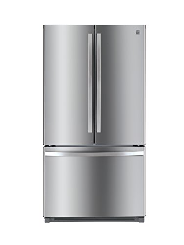 Kenmore 73025 26.1 cu. ft. Non-Dispense French Door Refrigerator in Stainless Steel with Active Finish, includes delivery and hookup (Available in select cities only) (Built In French Door Refrigerator)