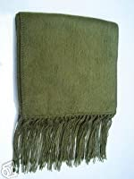 """Alpaca Scarf Double Thick Hand Knit Mixed Colors 10"""" X 74"""