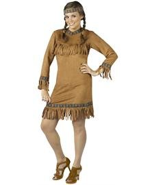Native American Plus Size Costume (Women's Plus Size Space Costume)