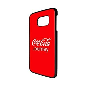 Creative Logo Samsung Galaxy S6 Edge Funda Case Coca Cola Brand Logo Galaxy S6 Edge Funda Case for Man, Slim Fit Protective Phone Funda Cover for Galaxy S6 Edge