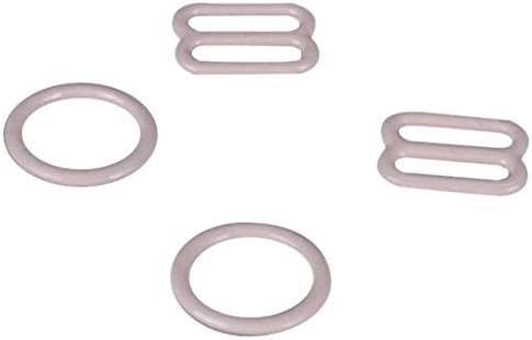 Porcelynne Tan Nylon Coated Metal Bra Strap Rings and Sliders 3//4 or 18mm 1 Set
