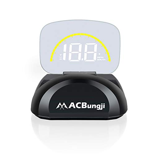 A1000 OBD2 ACBungji Car HUD Head Up Display OBD2 GPS Dual Mode Speedometer Tachometer Projector RPM MPH Over Speed Alarm Voltmeter Water Temperature Warning Auto Truck SUV RV Universal