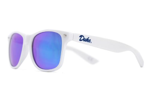 NCAA Duke Blue Devils Sunglasses White Frame Blue Lenses , One Size, White, DUKE-5