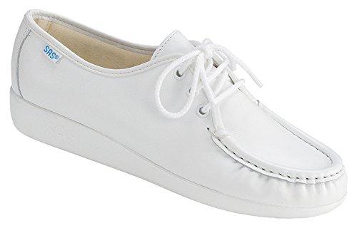 Women's Siesta lace up comfort shoe, White (8 N)