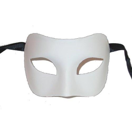 Blank White Mask for Decorating Colombina Grezzo Venetian