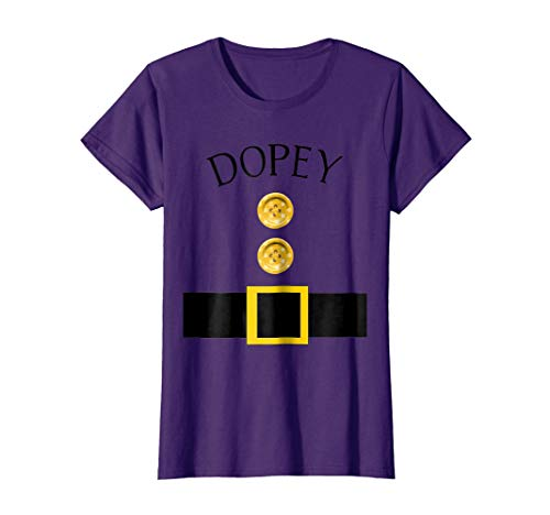 Womens Cute Dopey Halloween Group Costume T Shirt