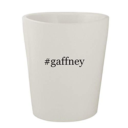 #gaffney - White Hashtag Ceramic 1.5oz Shot Glass