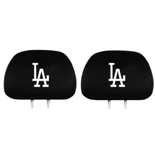 Promark Stand - Team Promark HRML15 Headrest Covers -set of 2- Dodgers-HR- Black