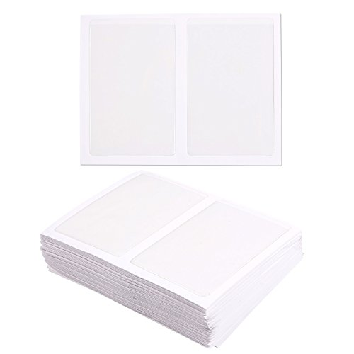 - Juvale 100-Pack Self-Adhesive Business Card Holders - Pockets Open on Short Side - Ideal for Organizing and Safe Archiving of Your Business Cards - Crystal Clear Plastic, 3.7 x 2.3 Inches
