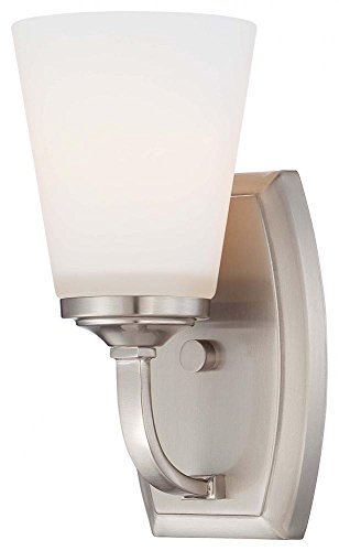 Minka Lavery 6961-84 Overland Park 1 Light Bath Lighting, Brushed Nickel - 84 Four Light Bath