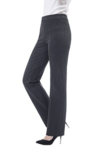 Women+Pull+on+Curvy+Work+Pants+Ladies+BootCut+Stretch+Rayon+Trousers+By+Soshow