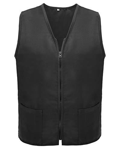 TOPTIE Adult Volunteer Vest Activity Event Supermarket Apron Vests, Black]()