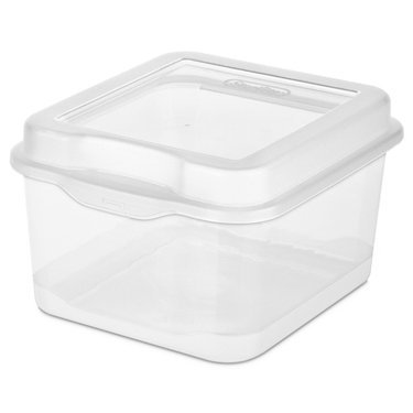 Sterilite 18038612 Small Clear Flip Top Storage Box (Holder Cheese)