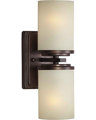 Filament Design CLI-FRT2424-02-32 Liam 2-Light Antique Bronze Sconce with Umber Linen Glass, ()