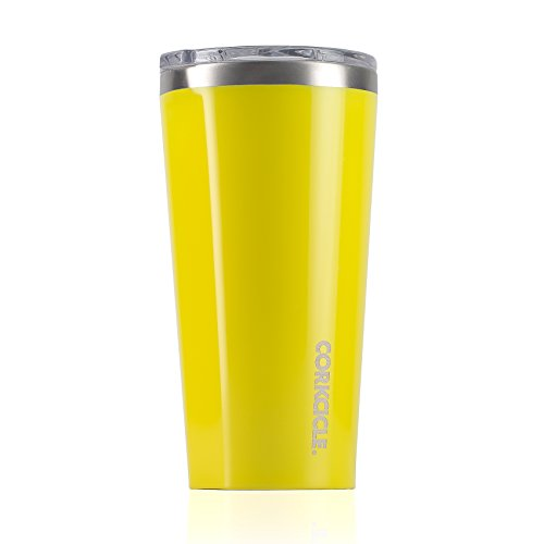 Corkcicle Tumbler-Classic Collection-Triple Insulated Stainless iron and leisure Mug, 16 oz, Gloss Lemonade