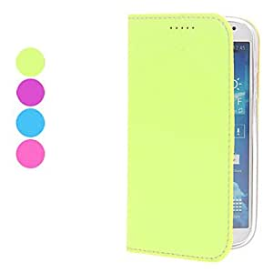 Candy Color Solid Color PU Leather Full Body Case with Stand for Samsung Galaxy S4 I9500 (Assorted Colors) --- COLOR:Purple