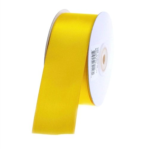 "Homeford Firefly Imports Double Face Satin Ribbon, 1-1/2-Inch, 25 Yards, Dark Yellow, 1.5"","