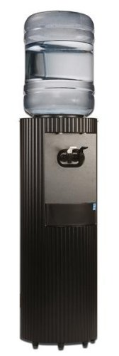 Celsius Bottleless Water Cooler in Fluted Aluminum with Powder Coated Black Finish - Hot & Cold