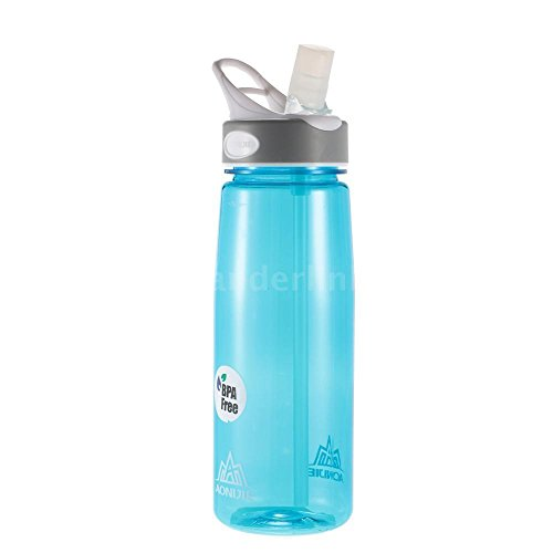 750ML Outdoor Sports Bike Bicycle Cycling Water Bottle Drink Cup BPA FREE (Blue)