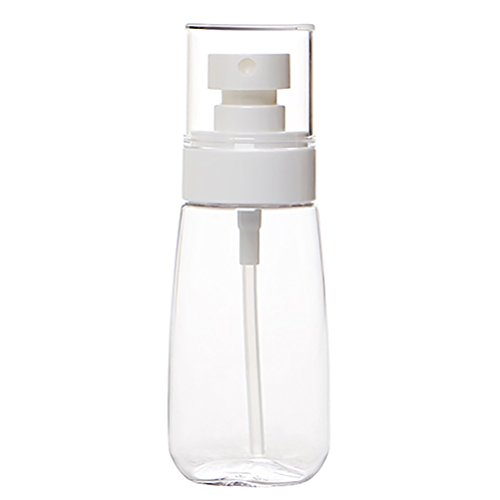 (JUNKE Empty Portable Clear Plastic Spray Bottles Toiletries Liquid Containers Travel Bottle Set (60ml/2oz, Clear))