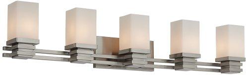 Possini Euro Bennett 39 3/4'' Wide Satin Nickel Bath Light by Possini Euro Design