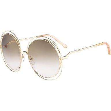 chloe-womens-carlina-round-gold-transparent-peach-sunglasses