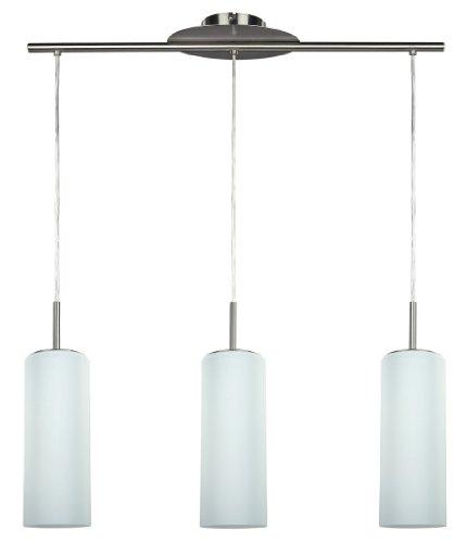 CANARM LTD. IPL379A03BPT Toni 3 Bulb Pendant Island Light, Brushed Pewter