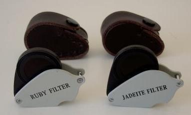 - Jadeite/chelsea filter + Ruby filter for gem testing gemstones. 2 items bundle!