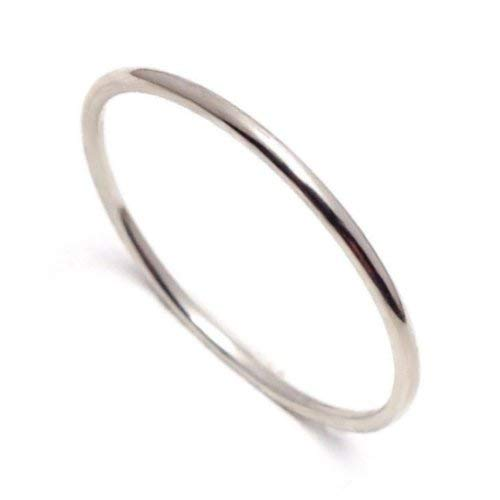 Fine Ring Platinum (Very Thin 1mm Solid Platinum Ring Pt900 Gift for precious one and your self)