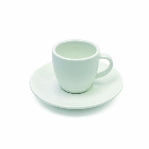 Maxwell and Williams Basics Round Demi Cup and Saucer, 4-Ounce, White