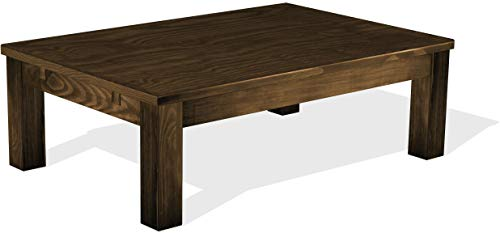 (Brazilfurniture Coffee Table Rio Pine Dark Brown Solid Wood Rectangular Shape 47.2 x 31.5 Inches, Oak Antique Office Conference Desk Kitchen)