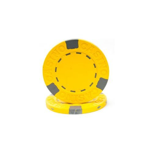 - Trademark Poker Pro Clay Casino 50 Poker Chips, 13gm, Yellow