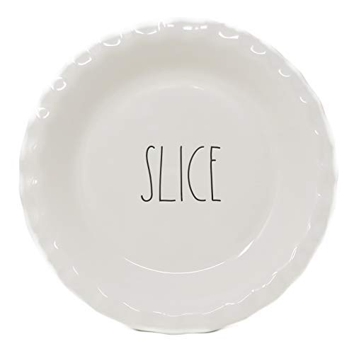 Rae Dunn By Magenta SLICE Ceramic Large Letter LL Pie Pan