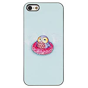GJYOwl Baby in Flora Skirt Pattern PC Hard Case with 3 Packed HD Screen Protectors for iPhone 5/5S