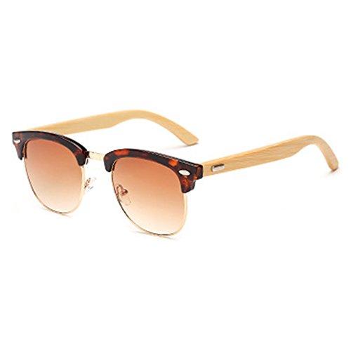 gafas madera de Vintage UV400 de sol Classic Bamboo Shades C1 juqilu 7q7PzX