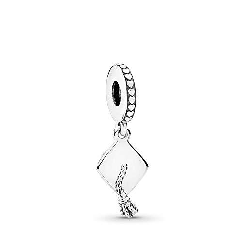 PANDORA Graduation Dangle Charm, Sterling Silver, One Size (Pandora Staff Charm)