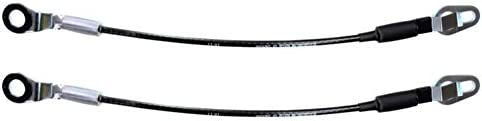 Tailgate Cable Support Left//Right Pair Length 18 1//8 PT Auto Warehouse TC-CH004-P