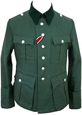 Militaryharbor WWII German M36 Officer Summer HBT Reed Green Field Tunika