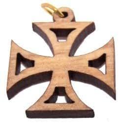 "PattEe Olive wood Cross Laser Pendant (6cm or 2.36""long ))"