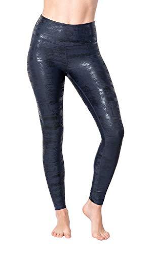 90 Degree By Reflex - Performance Activewear - Printed Yoga Leggings - Stormy Night Ankle Length - Medium