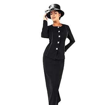 Amazon.com: Kueeni Women Church Suits with Hats Church