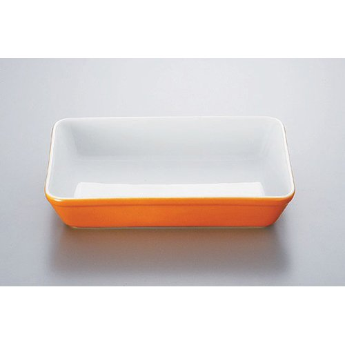 Plate utw578-10-144 [8.5 x 6.3 x 1.6 inch] Japanece ceramic Orange blown 10 inch lasagna tableware
