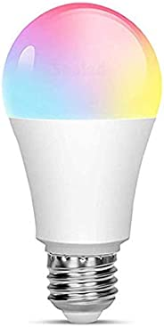 Smart Lâmpada Wi-Fi, Casa Inteligente LED 10W Luz Quente,Luz Branca - Compatível com Alexa 10W