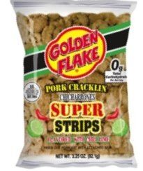 Golden Flake Super Cracklin Strips, Chili Lime, 3.25 oz (Pack 4) by Golden Flake (Image #1)