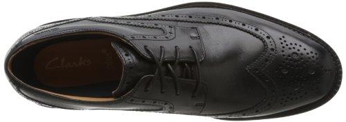 Leather Uomo Clarks Limit Black Scarpe Nero da Dorset Richelieu Lacci con 00qvwUr